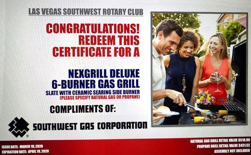 NEXGRILL DELUXE 6 BURNER GAS GRILL